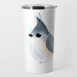 Tufted Titmouse Bird Illustration  Travel Mug