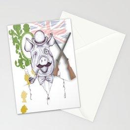 Stately Hog Stationery Cards