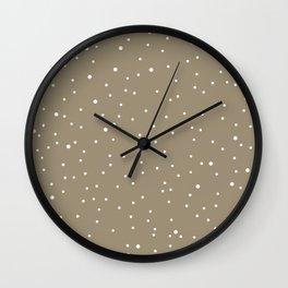 polka dots in the nude sky Wall Clock