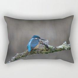Kingfisher on a Branch Rectangular Pillow