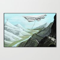 giants Canvas Prints featuring GIANTS by Erik Anarchie