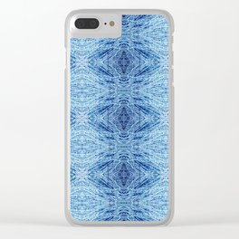 Blue Birch Clear iPhone Case