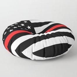 Firefighter: Black Flag & Red Line Floor Pillow