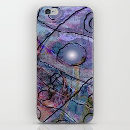 Maille bleue iPhone Skin