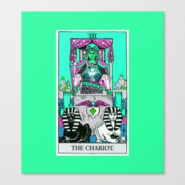 7. The Chariot- Neon Dreams Tarot Canvas Print