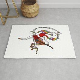 Dancing Unicorn Violin Music Player Rug