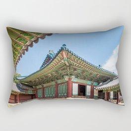 Blue Tile Roof, Changdeokgung Palace, Seoul Rectangular Pillow