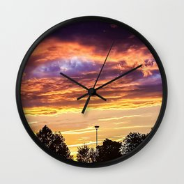 Sunset in Exeter Wall Clock