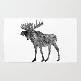 Moose Watercolor Art Rug