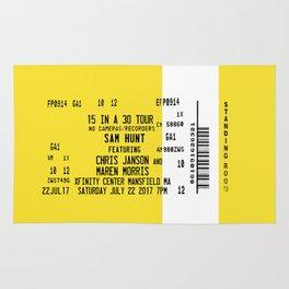 Concert Ticket Stub - Sam Hunt 15 in a 30 Rug
