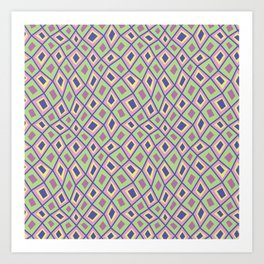 Diamonds are Forever-Coolio Colors Art Print