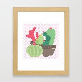 Cactus , succulent plants ,  botanical Framed Art Print