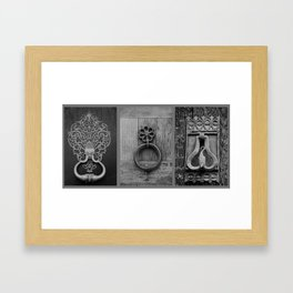 door knockers Framed Art Print