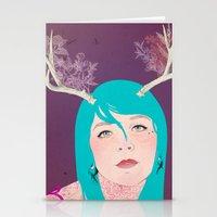 antlers Stationery Cards featuring Antlers by karolindie