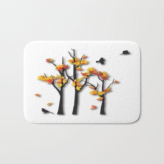 Autumn Trees Bath Mat
