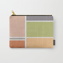 Neutral Color Blocks Carry-All Pouch