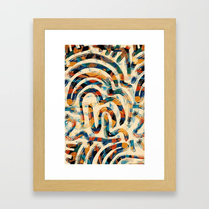 Pattern № 92 Framed Art Print