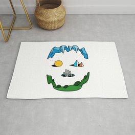 Skull - Retro Geometric Poster Rug