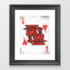 LOVE IS AN OPEN WOUND Framed Art Print