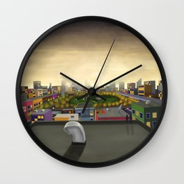 The Fall in Big City, Peanut Butter Zombie Print No.1 Wall Clock