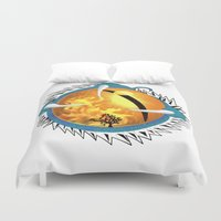 skyfall Duvet Covers featuring Skyfall Dragon's Eye by Pr0l0gue