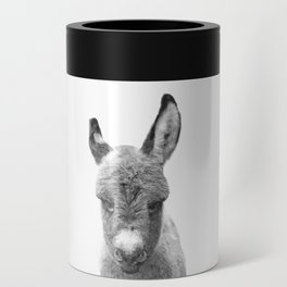 Black and White Baby Donkey Can Cooler