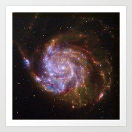 Spiral Galaxy Messier 101 Art Print