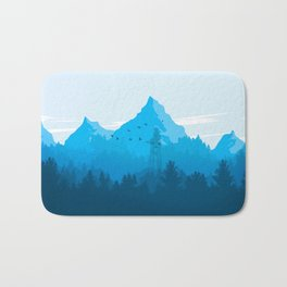 Blue Mountain landscape Bath Mat