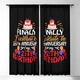 Celebrate 25th Anniversary Birthday  Blackout Curtain