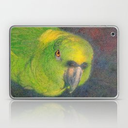 Green parrot Laptop & iPad Skin