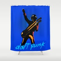 daft punk Shower Curtains featuring Daft Punk by Alli Vanes