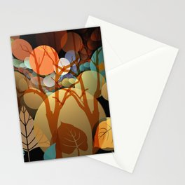 Trees and leaves in sun spots Stationery Cards