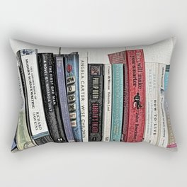 Book shelf love- we are what we read Rectangular Pillow