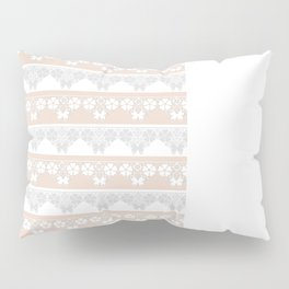Peach-colored lace . Pillow Sham