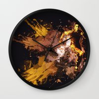 football Wall Clocks featuring Football by Frauste