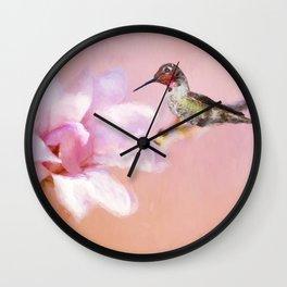 Spring Hummer Wall Clock