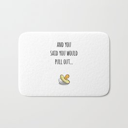 Oops Its a baby (TBD), funny pregnancy announcement Bath Mat