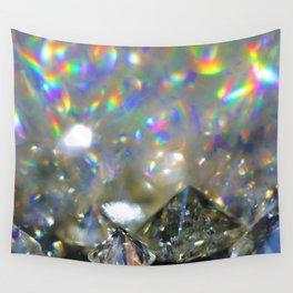 Rainbow Diamonds Wall Tapestry