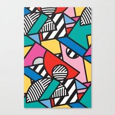 Colorful Memphis Modern Geometric Shapes Canvas Print