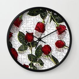 Roses For You Wall Clock