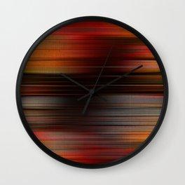 """Abstract Autumn Porstroke (Pattern)"" Wall Clock"