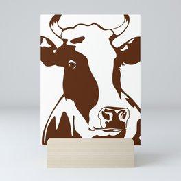 Animal Art Brown Cow Mini Art Print