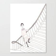 girl on a stair Canvas Print