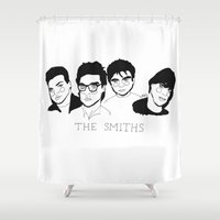 the smiths Shower Curtains featuring The Smiths by ☿ cactei ☿