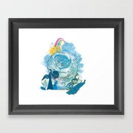i love my planet 2 Framed Art Print