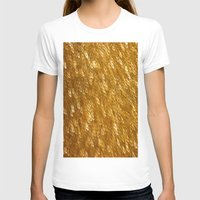 gold glitter T-shirts featuring Gold Glitter 1324 by Cecilie Karoline