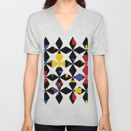 Abstract Motion Unisex V-Neck