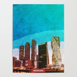 Moscow city skyline Poster