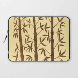 Gold Bamboo Trees Laptop Sleeve