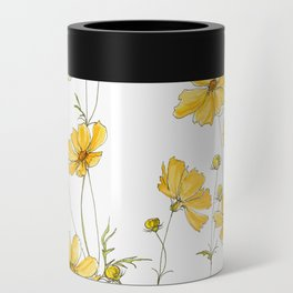Yellow Cosmos Flowers Can Cooler